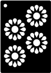 Creative Expressions Mini Stencil - Daisy Wheels